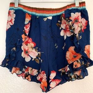 Meraki flirty ruffle floral shorts frilly